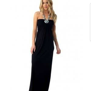 Sky maxi dress with tourquoise stones